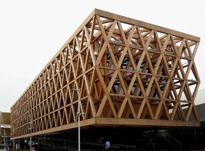 Nuevos usos de la madera laminada en fachadas edificios