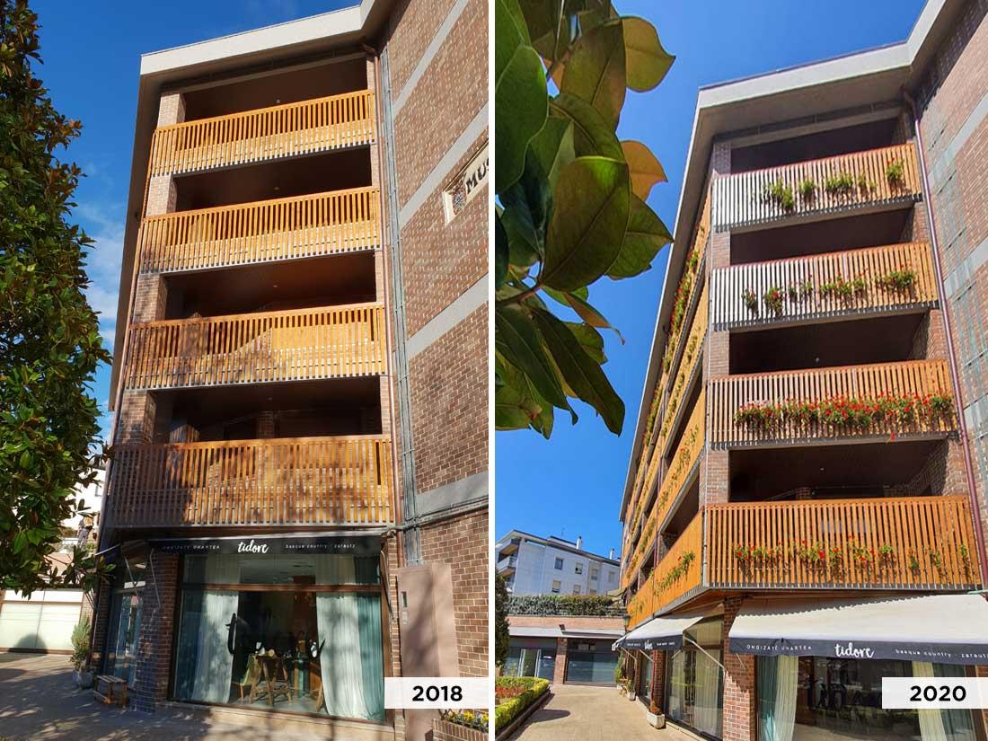 Grupo Gámiz, madera ACCOYA, proyecto Urbanización Muskaria